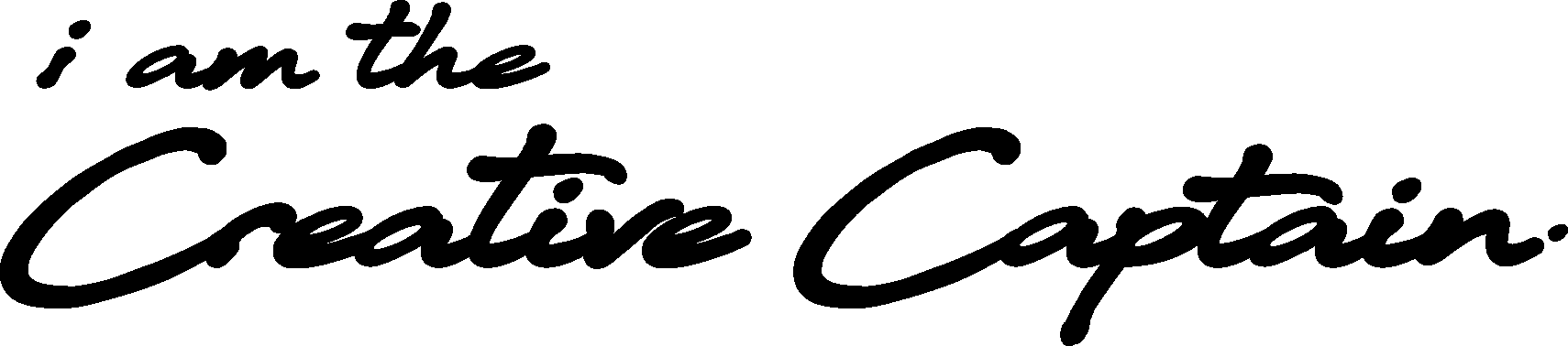 iam the creative captain logo black